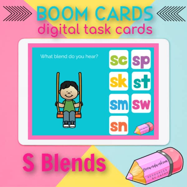 S Blends Task Cards