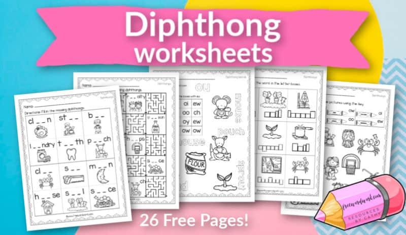 grab these free, printable diphthong worksheets