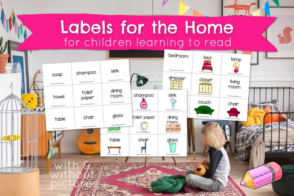 These labels for the home will help you create a print rich environment for your child learning to read.