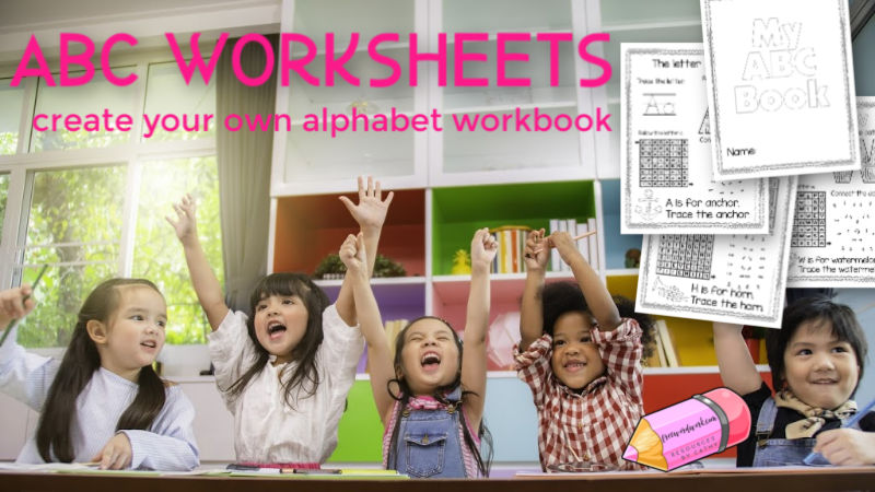 These free alphabet worksheets will help you create your own ABC workbook for your children to practice their letters.
