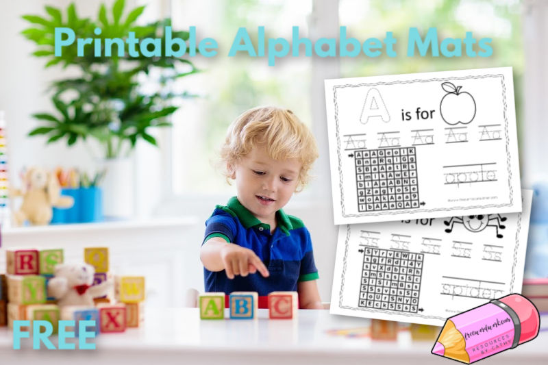 These free, printable alphabet mats are a fun way for your children to practice their letters.