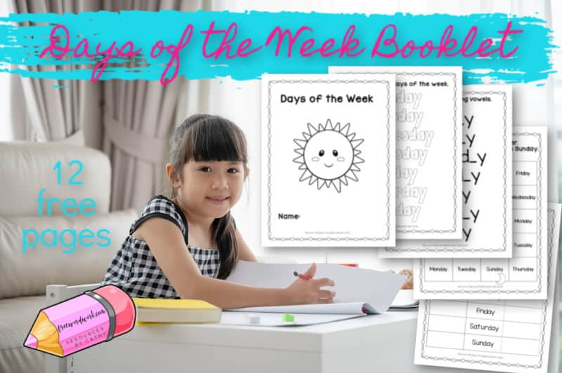 This days of the week booklet will help you create a book for your children to practice the days.