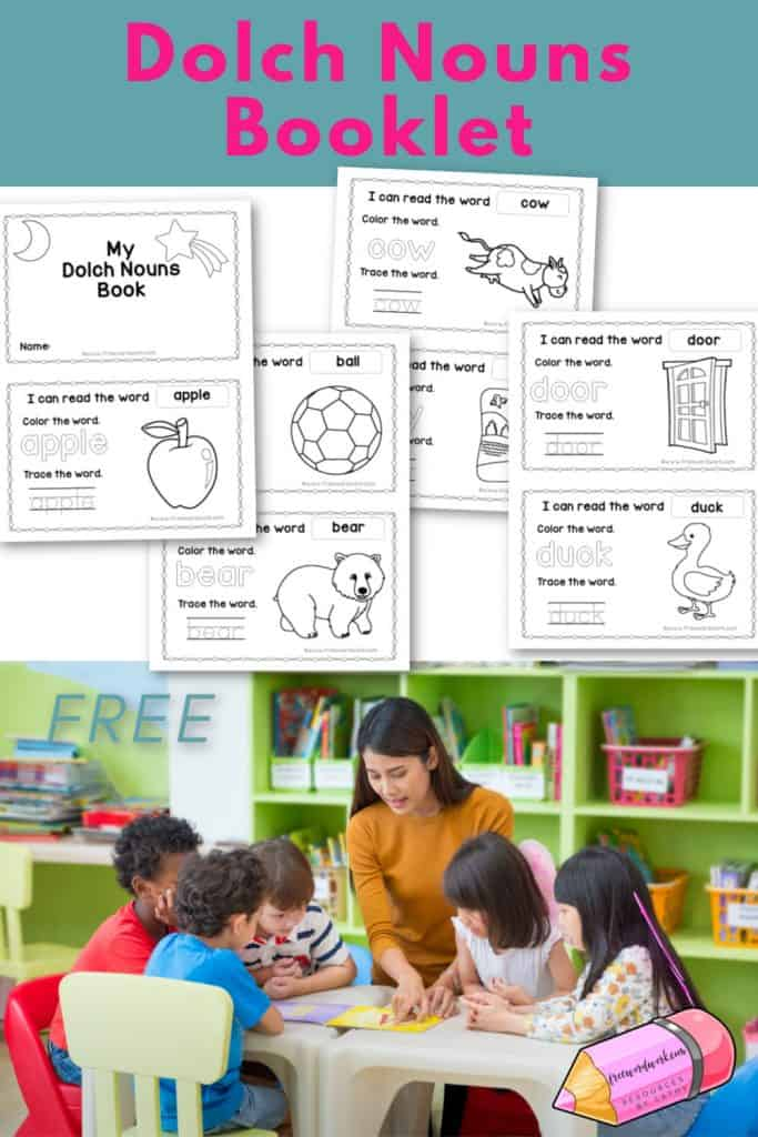 This Dolch Nouns booklet will offer your children practice with this group of sight words. Free from www.freewordwork.com.
