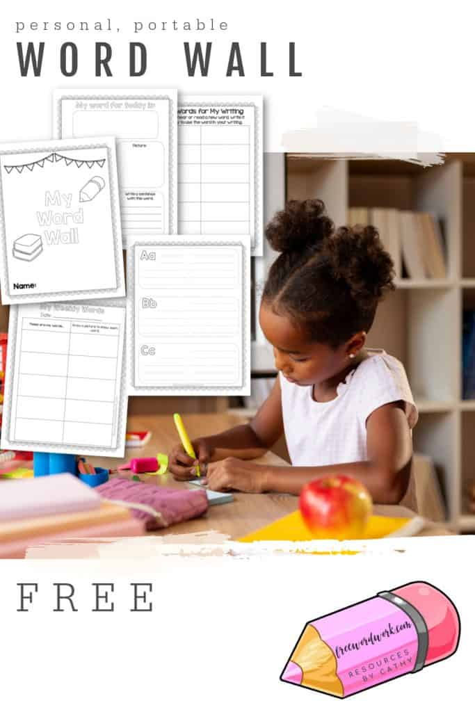 This personal, portable word wall is a great free writing tool for your children growing as authors.