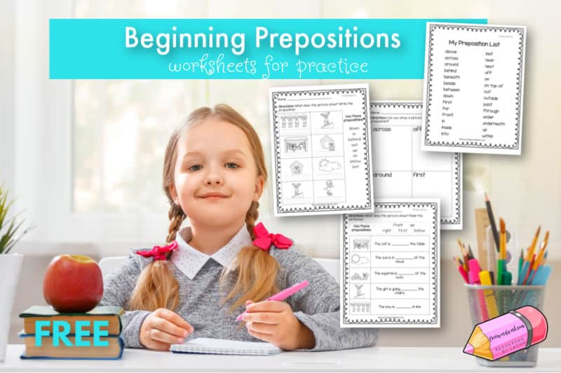 Download these beginning preposition worksheets to help your children practice prepositions.