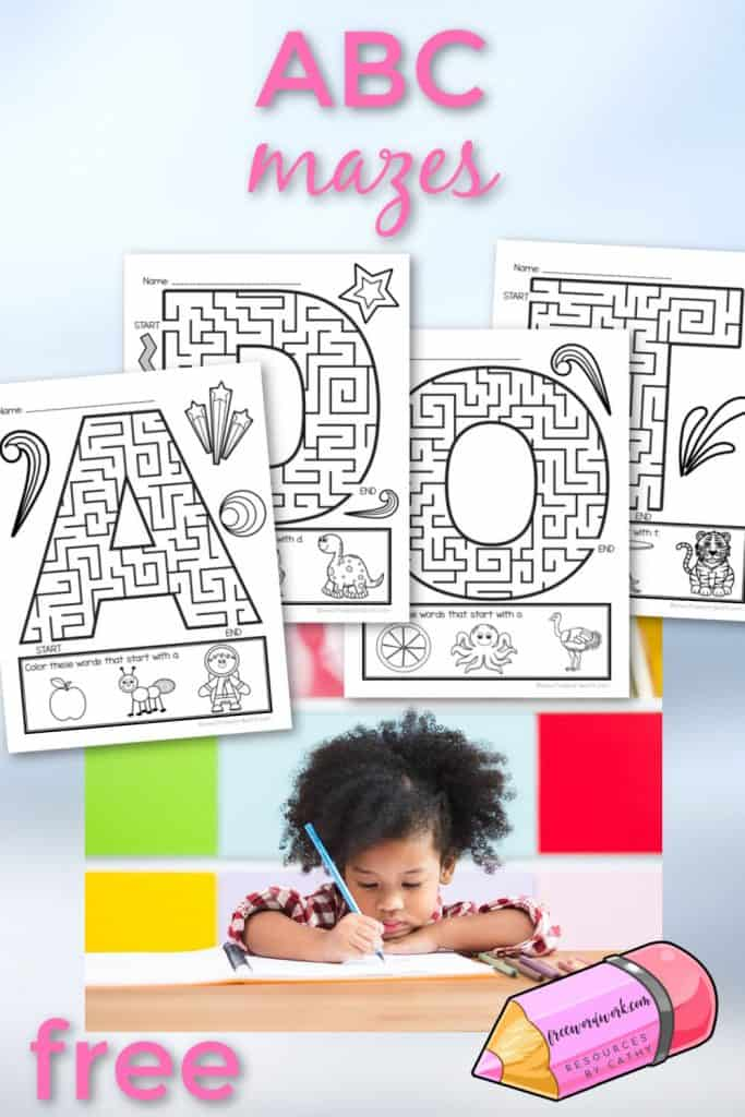 Alphabet mazes can be a fun way for children to practice their letters in an engaging way.