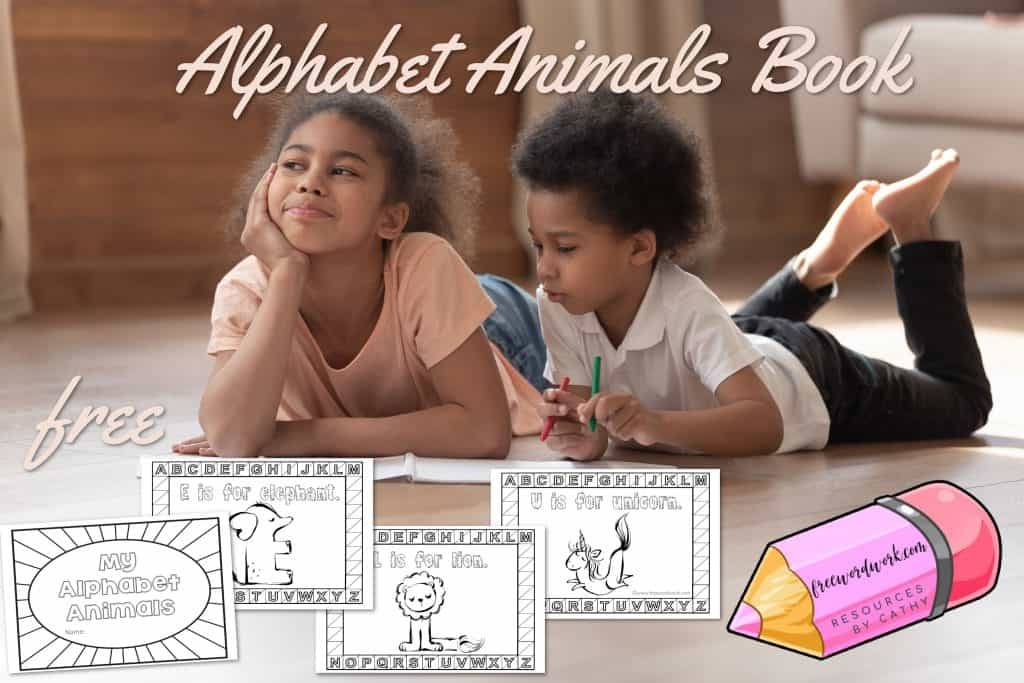 This whimsical alphabet animals coloring book will be a fun addition to your abc practice.