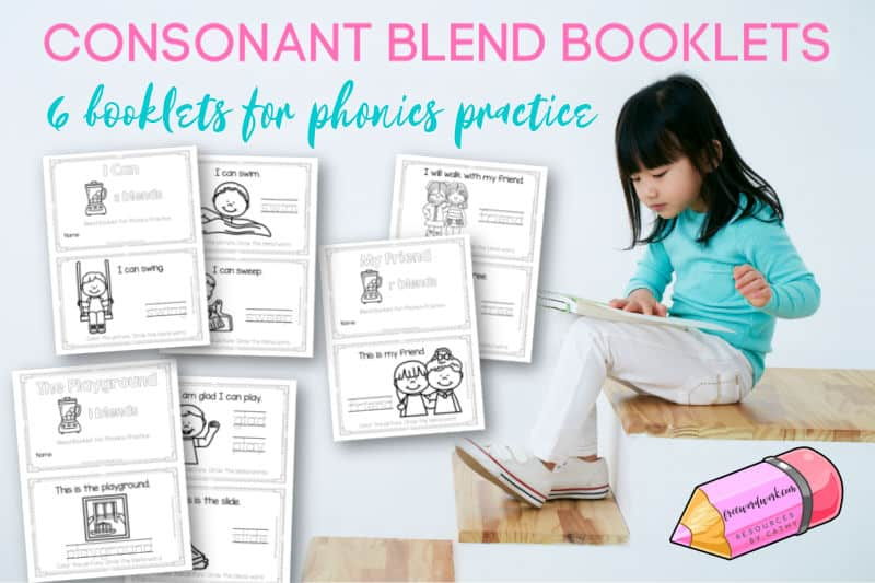 These simple beginning consonant blend booklets have been created to give your children practice with words containing blends.
