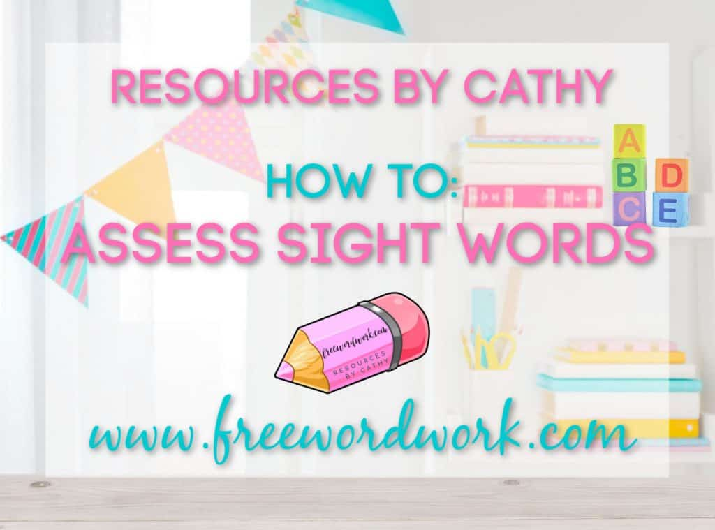 Here I am sharing the method I use to assess sight words with my students.