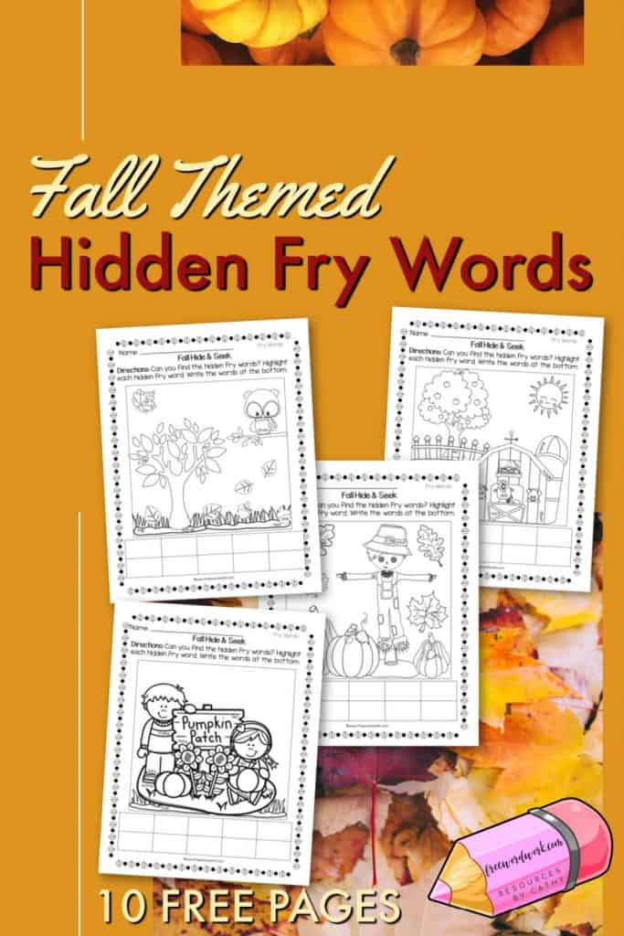 Fall hidden Fry word worksheets can help you add a little fun to your sight word practice.