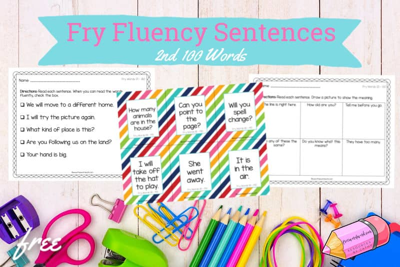 These Fry fluency sentences #2 for the 2nd 100 words will help your children work on fluency plus the second set of Fry words.