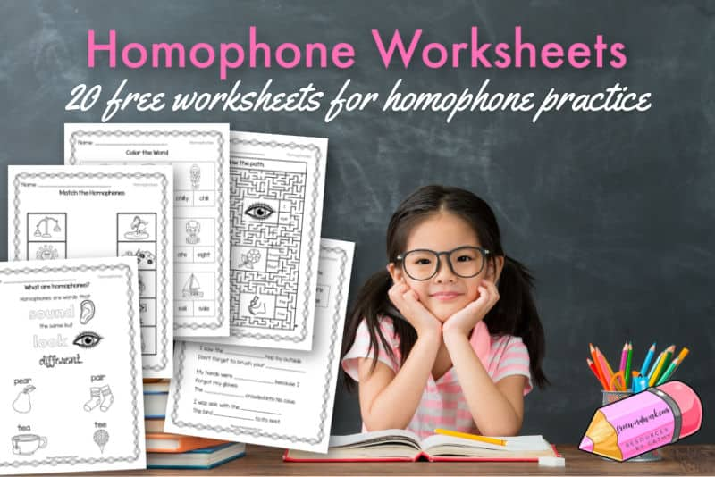 Add these free homophone worksheets to your collection of English grammar worksheets.