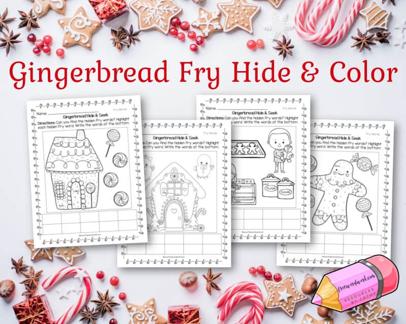 These free gingerbread hidden Fry words will help your children practice sight words with a fun theme.