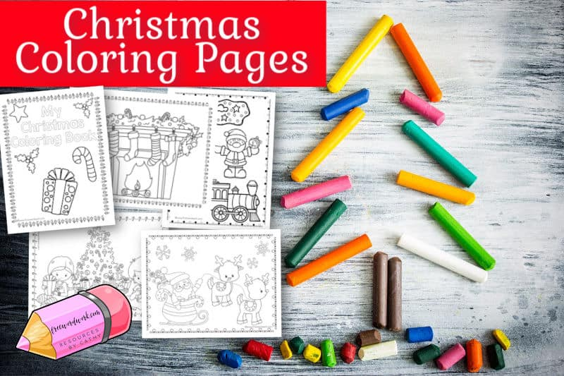 This new set of Christmas coloring pages are a perfect addition to your holiday fun at home or in the classroom.