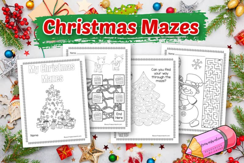 These new Christmas mazes will be a fun addition to your Christmas activities.