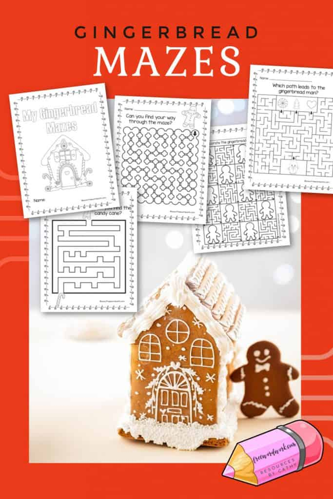This set of gingerbread mazes will be fun for your students or children at home this holiday season.