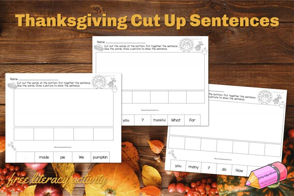 Download these free fall cut-up sentences to use as a ready to go literacy center for your reading workshop.