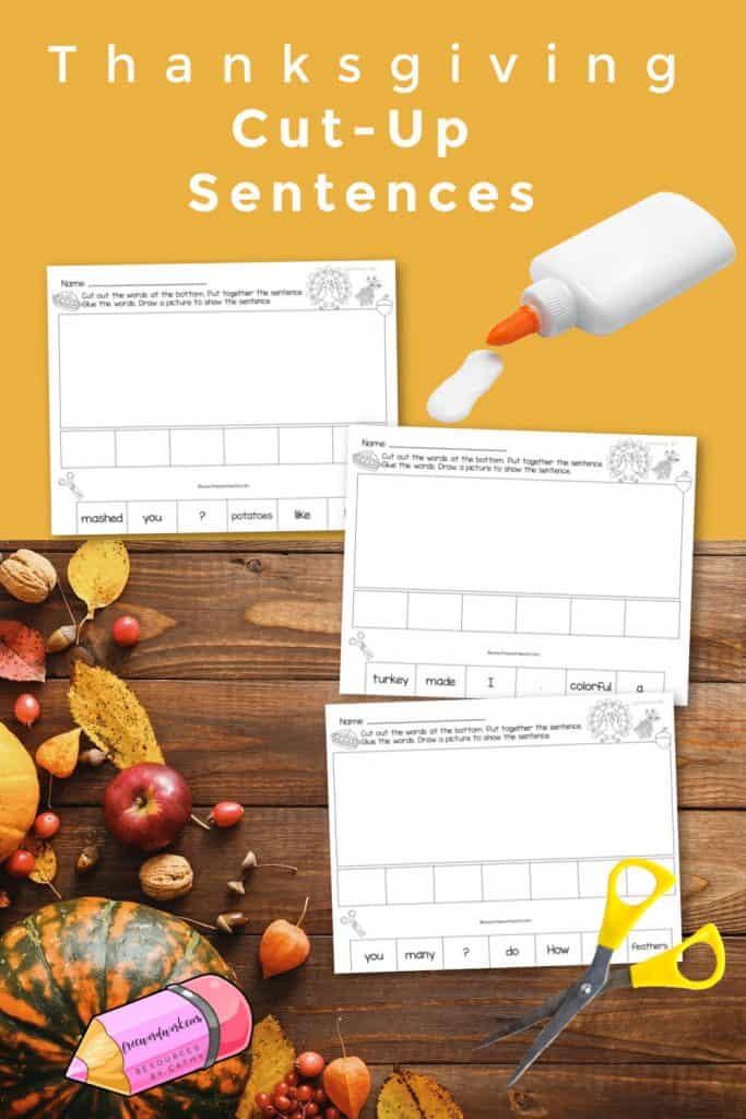 Download these free fall cut-up sentences to use as a ready to go literacy center for your reading stations.