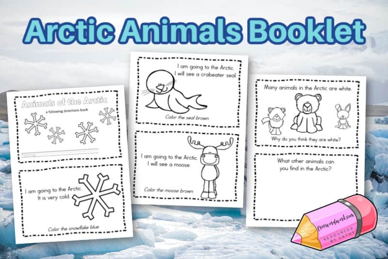 Download this free Arctic animals booklet for your students who are learning about the Arctic.