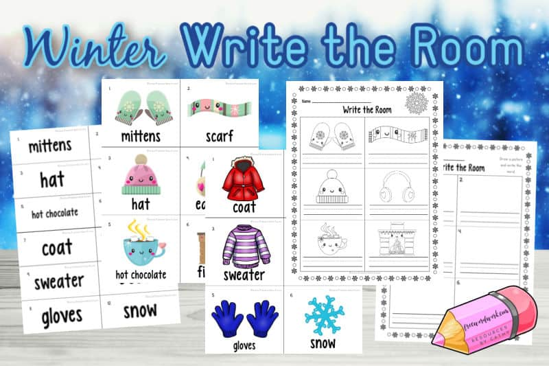 Download this free winter write the room activity to help your students practice reading at home or school.