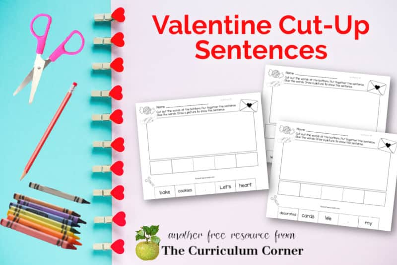 Download these free Valentine's Day Cut-Up Sentences to add a little heart-themed fun to your classroom celebration.