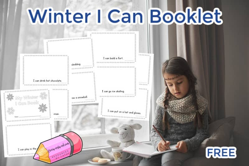 Download this winter I can booklet to help beginning readers work on reading and comprehension skills.