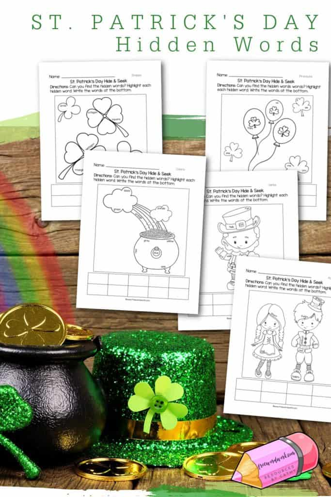 Download this set of free St. Patrick's Day Hidden Words for word work fun during March. Another freebie from www.freewordwork.com.