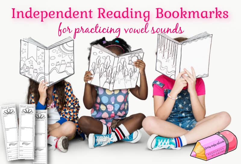 Add these vowel sound search bookmarks to your collection of resources for independent reading time.