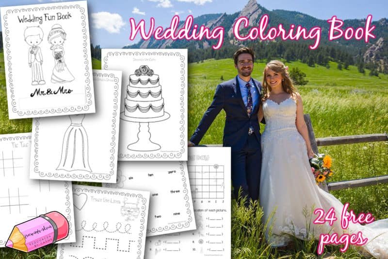 This free, printable wedding coloring & activity book will be a fun addition to your bridal shower or wedding celebration.